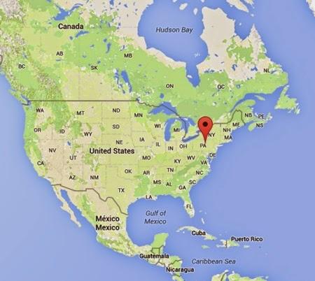 Pensilvanya'nin Haritadaki Yeri