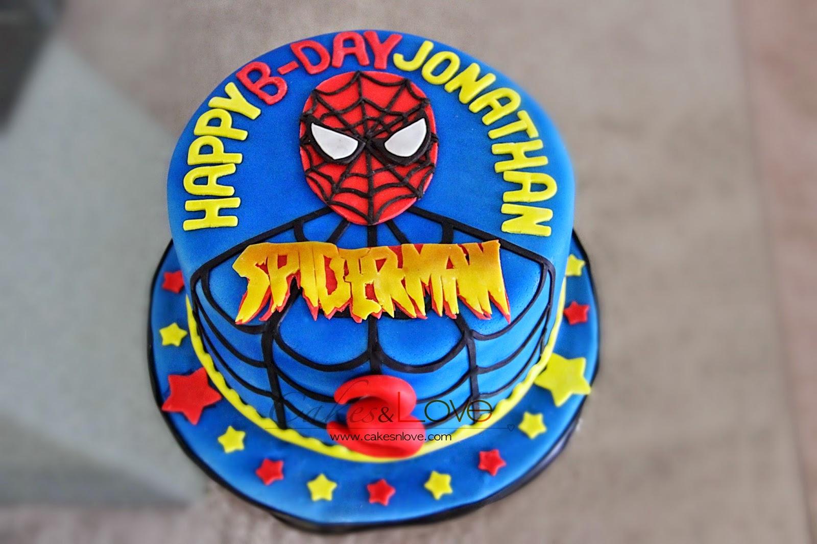 Cakes Love Spider Man Happy Birthday Jonathan