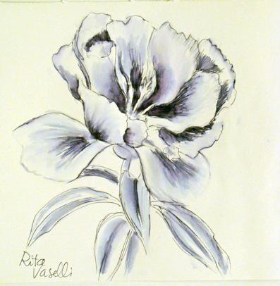 Rita vaselli watercolors disegnare dipingere facile con for Disegni di fiori a matita