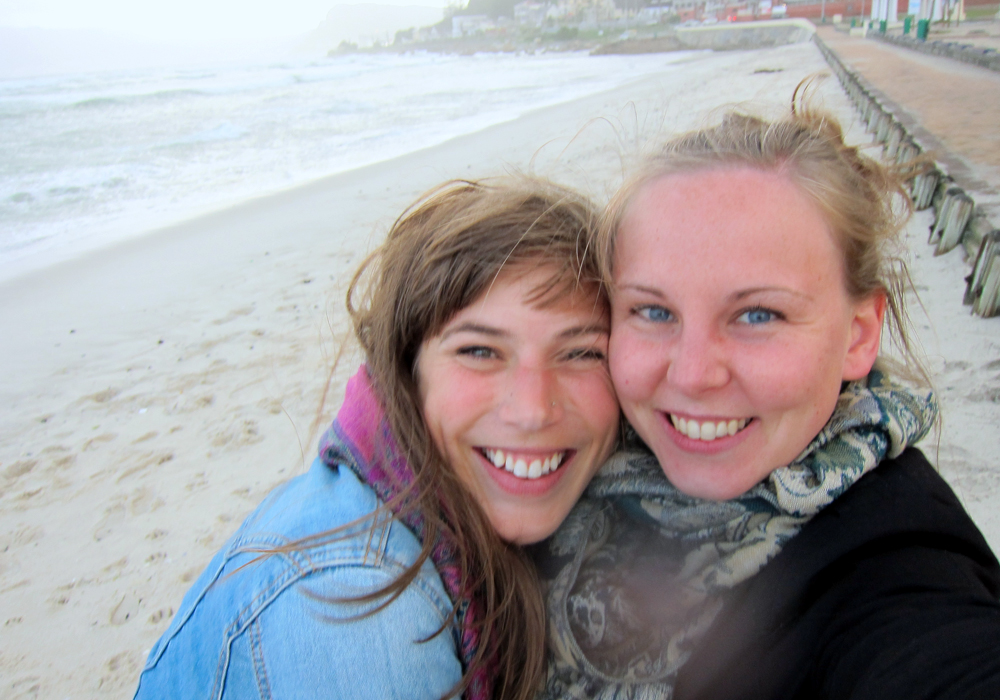 Chelsea Watson and Charlotte Senini in Cape Town