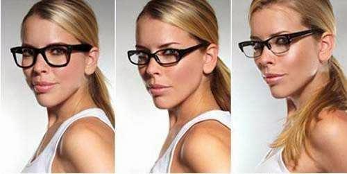 No foto a ideia foi demonstrar, qual o formato ideal, os óculos foram de um  formato harmônico com o rosto ao formato errado. O formato próximo do ideal  é o ... 9f24120189