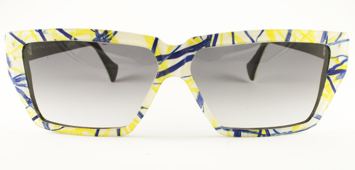 Rock Optika eyewear collection: San Remo sunglasses in feathers