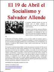 El 19 de Abril el Socialismo y Salvador Allende