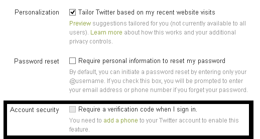 twitter new feature to protect your account