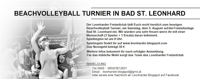 BEACHVOLLEYBALL BAD ST. LEONHARD