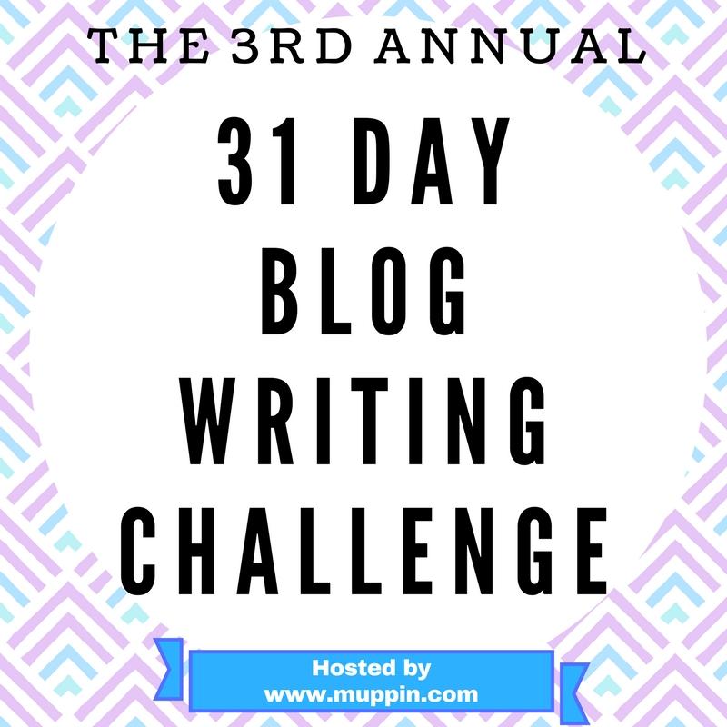 31 Day Blog Writing Challenge