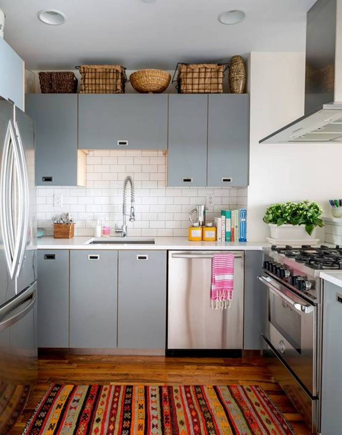 Beautiful abodes small kitchen loads of character for Small kitchen shelves