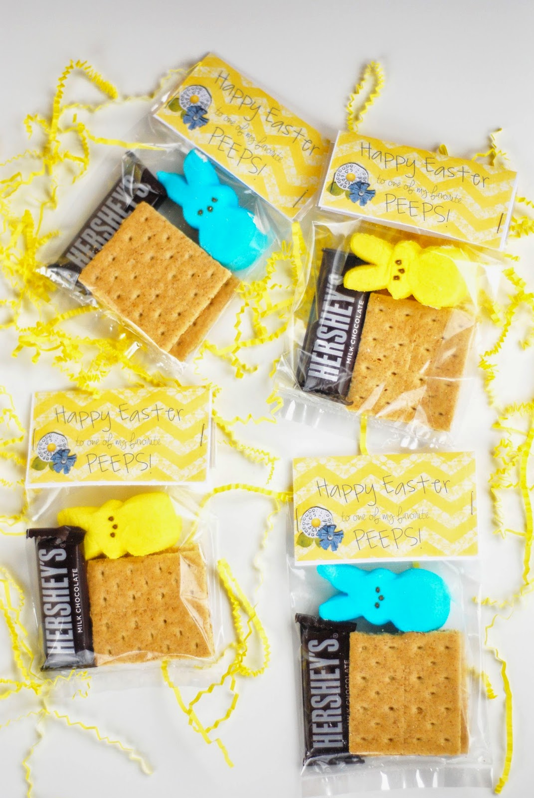 Peeps Easter s'mores free printable