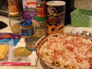 healthy cheese potato tuna hearty meal