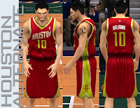 NBA 2K13 Houston Rockets Alternate Jersey