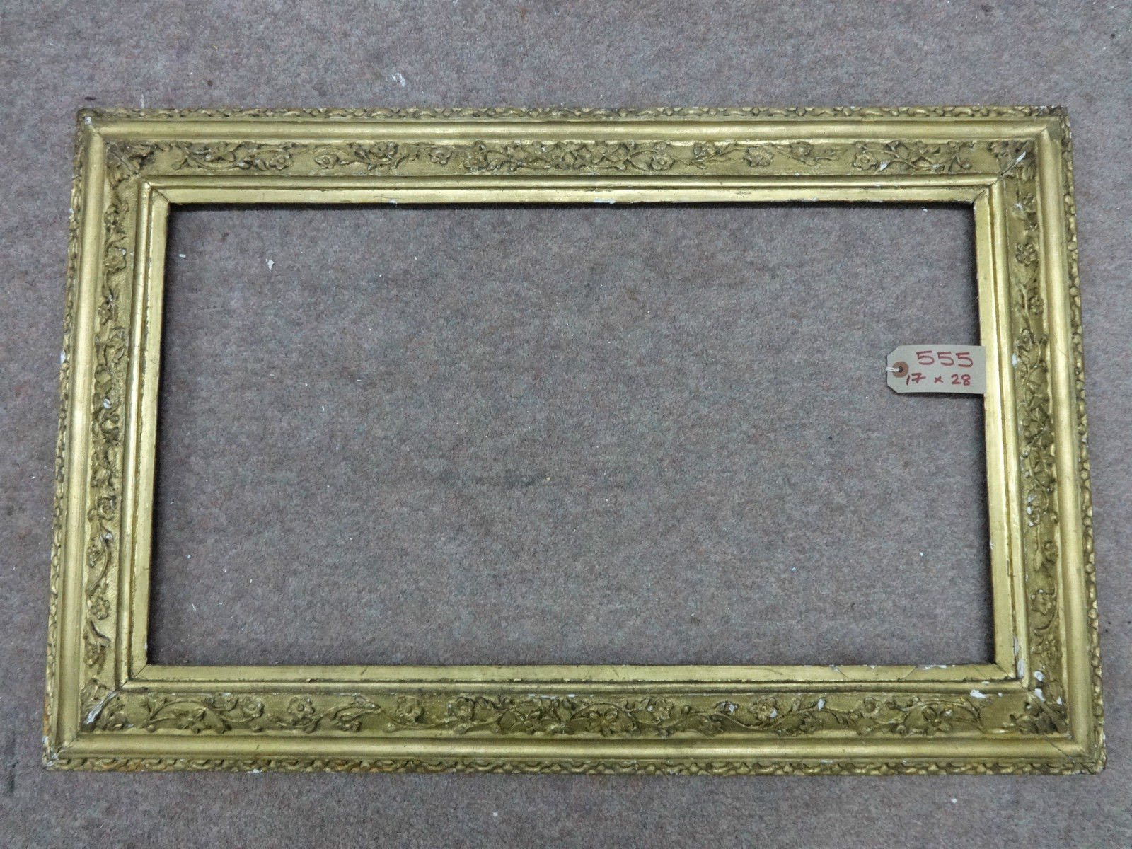 Antique Frame Sale: 17th Century English Carved Frame