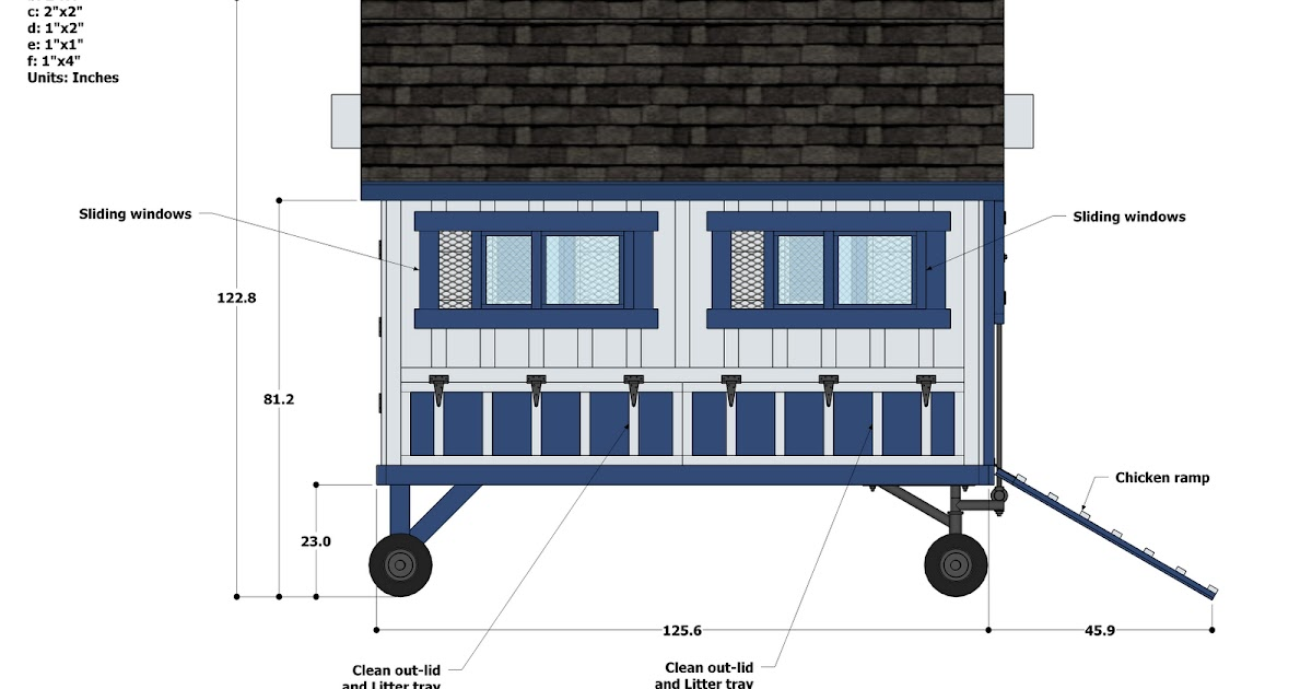 Plans For Chicken Coop On Wheels Guide Coop Channel