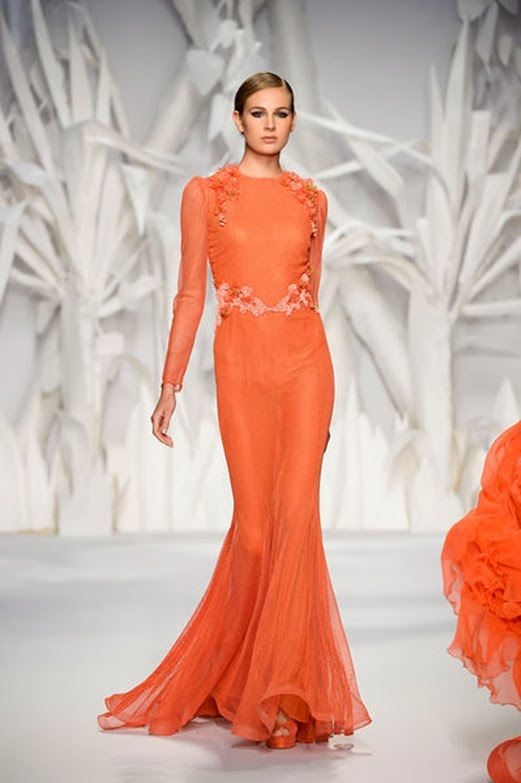 turuncu-gece-elbise