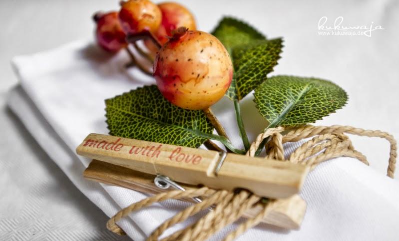 Herbstdeko Tischdekoration : Eine weitere Möglichkeit ist zum ...