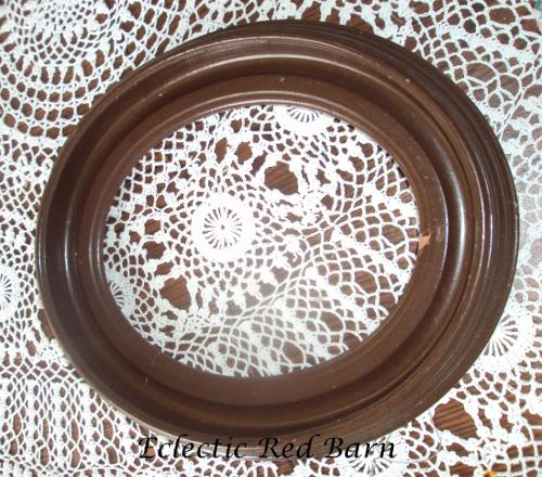 Vintage frame painted brown