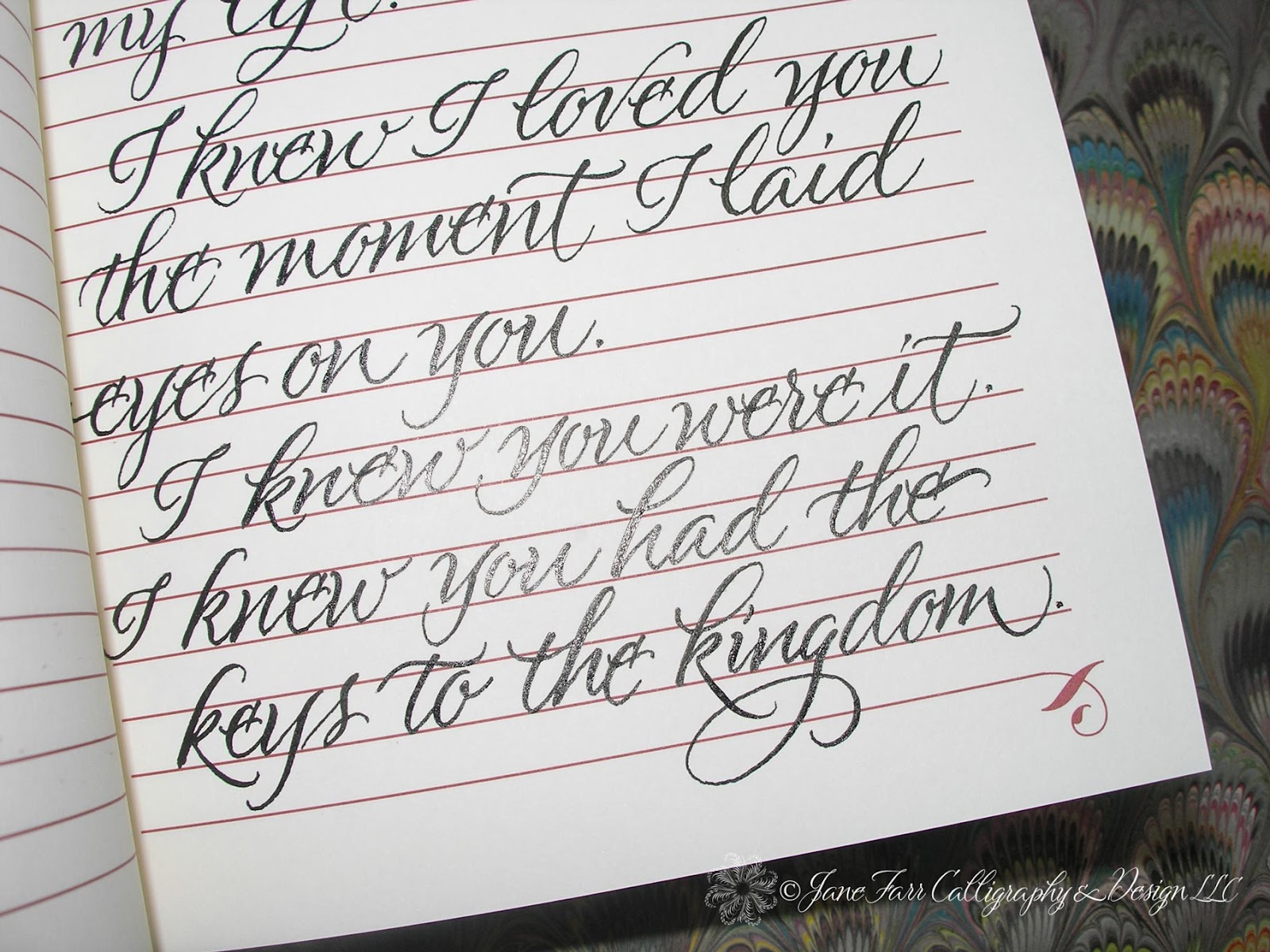wedding calligraphy by jane farr calligraphy for wedding vows