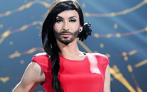 Austria sends Woman with Beard, Conchita Wurst, a Transvestite to Contest