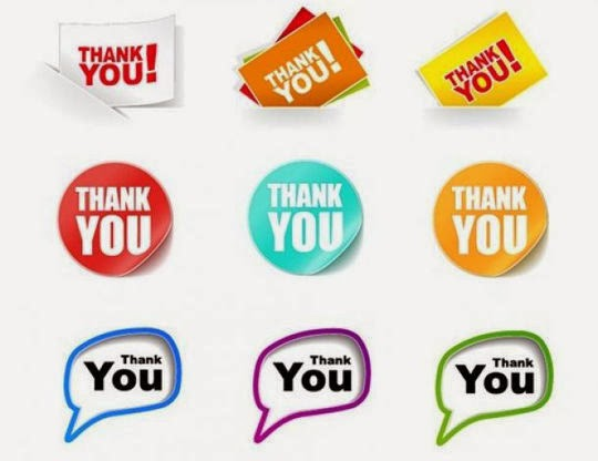 Thank You Stickers Vector Collection