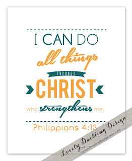 Orange Philippians 4:13 print