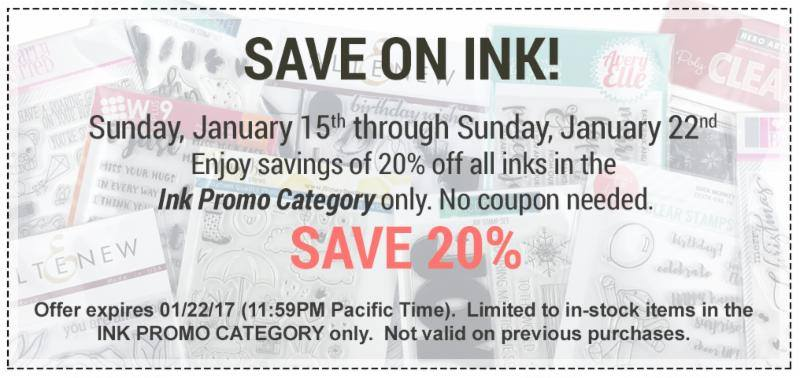 Ellen Hutson LLC is having an INK SALE!  No code needed.