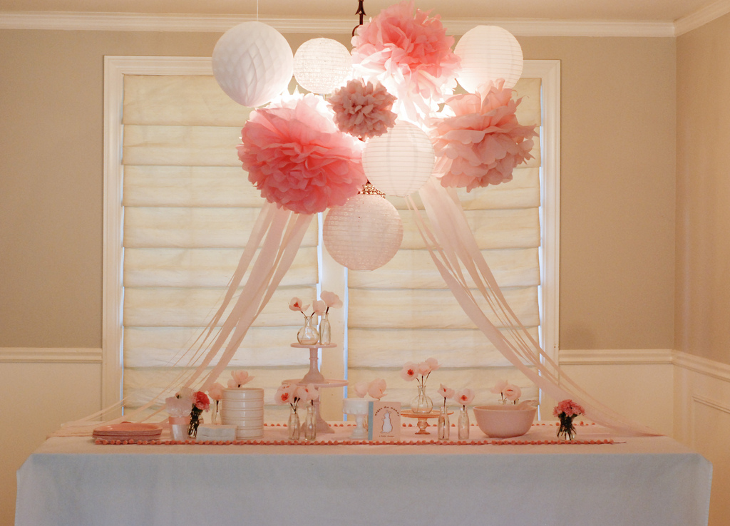 Fawn over baby pat the bunny baby shower - Pink baby shower table decorations ...
