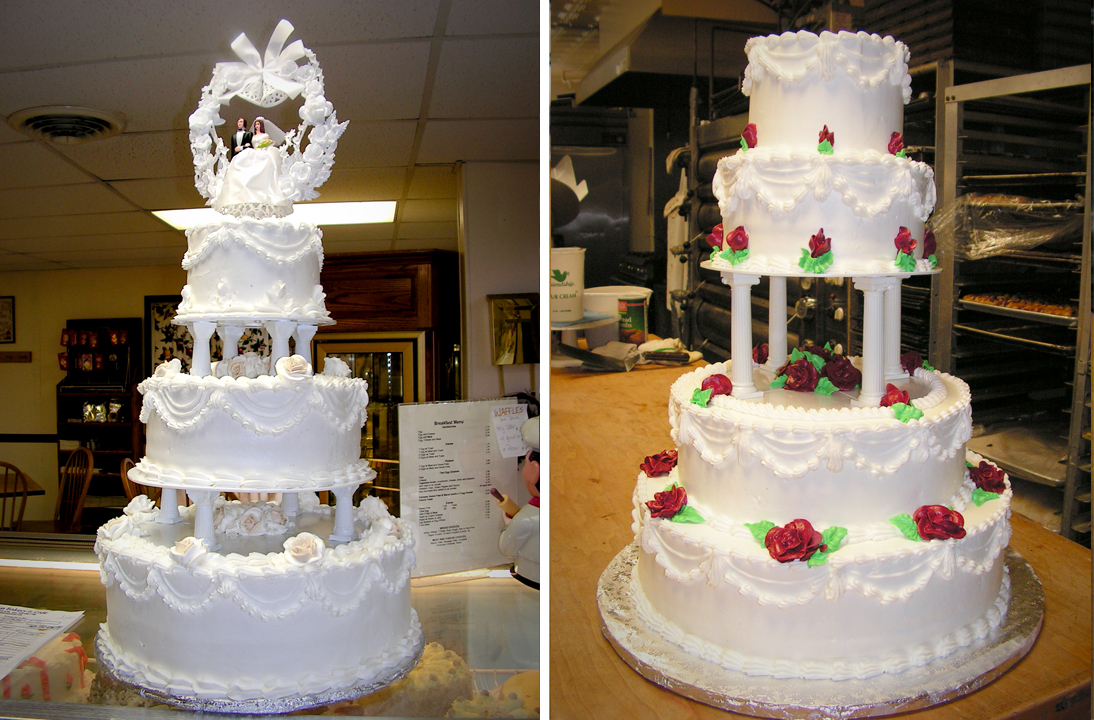wedding cake pillar