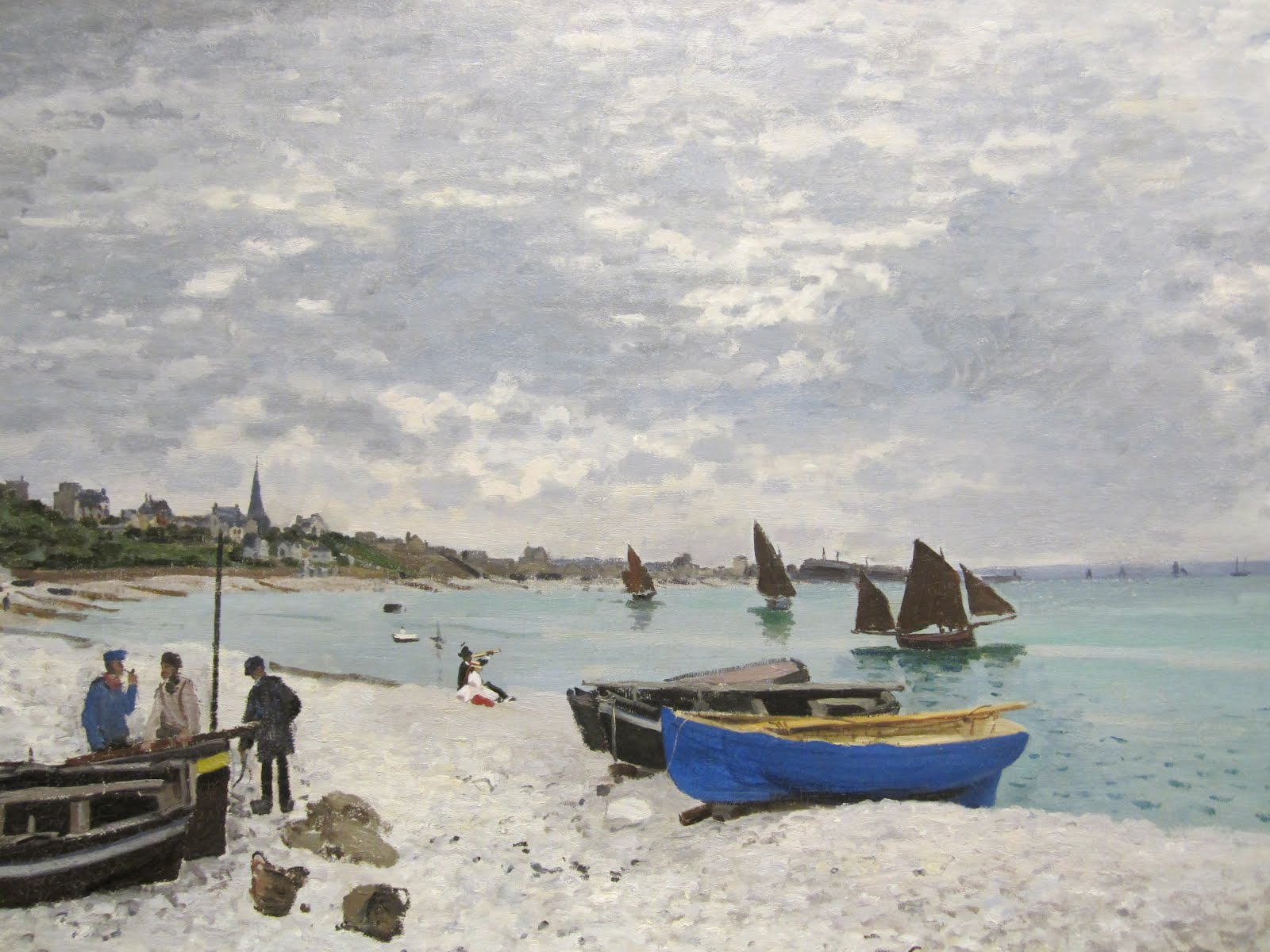 the beach at sainte adresse About this artwork view enlargement add to my collection license this image including the art institute's beach at sainte-adresse and its possible pendant.