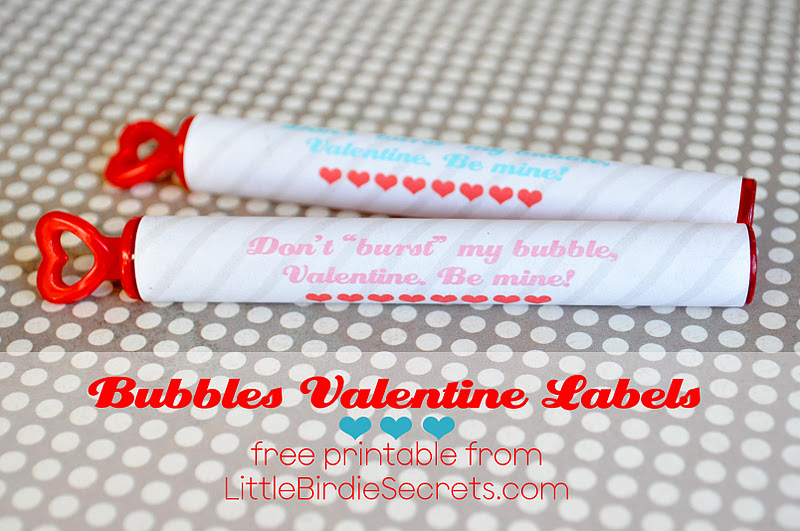 graphic regarding Bubble Valentine Printable called valentine bubbles labels absolutely free printable Minimal Birdie