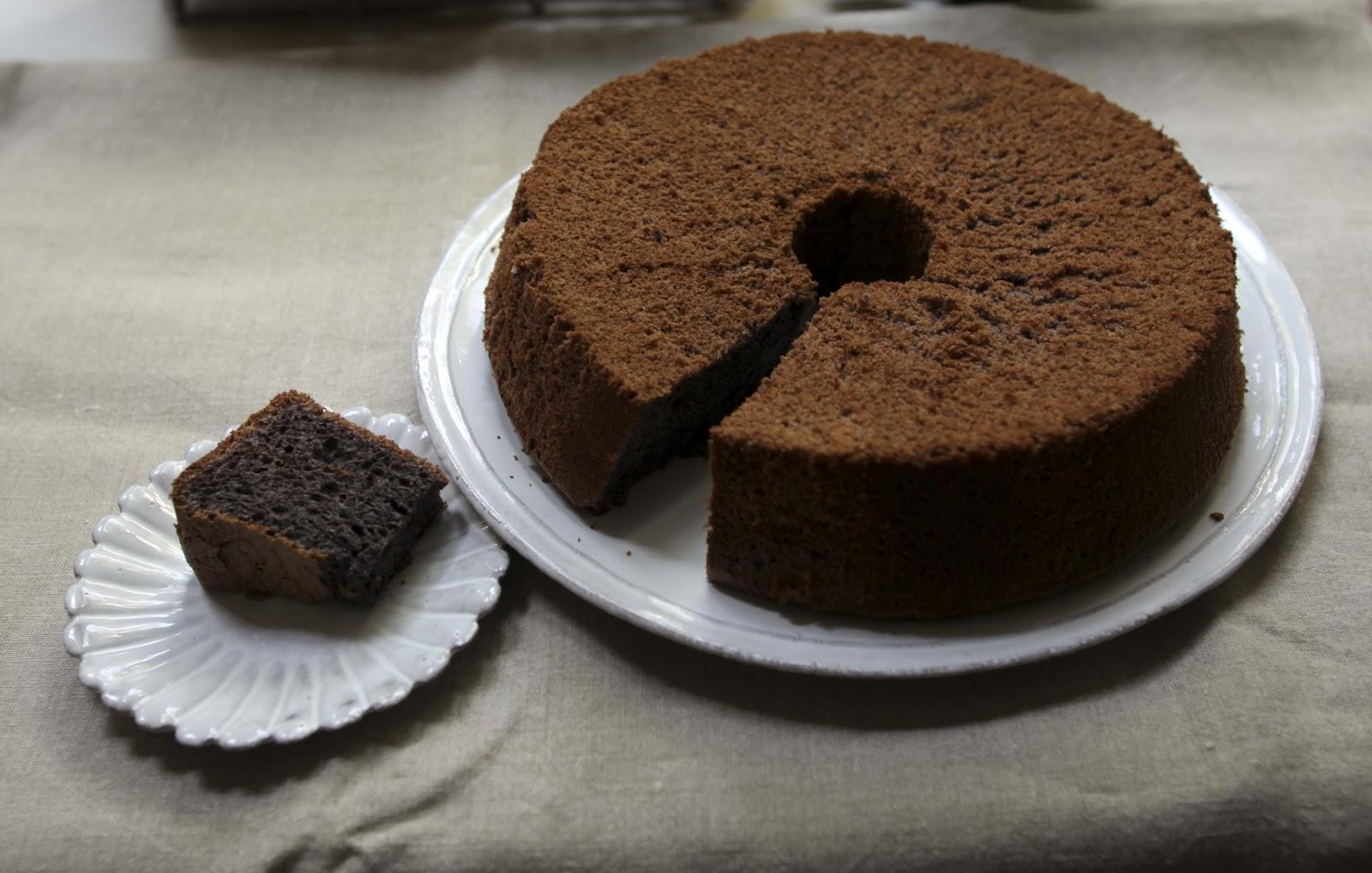 gluten free chiffon cake - black glutinous rice flour | 62 degree