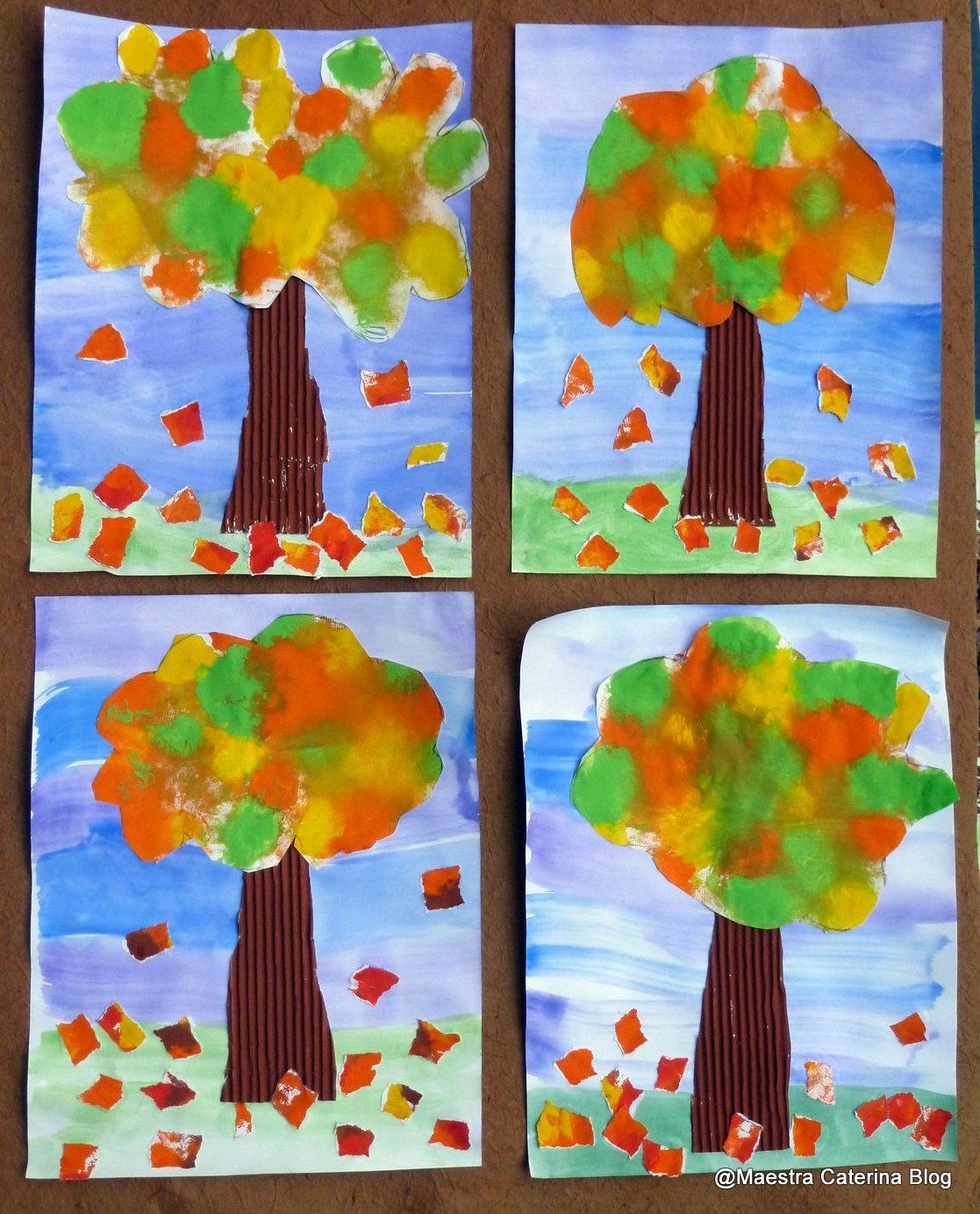 Maestra caterina autunno gli alberi del nostro giardino for Addobbi porta autunno