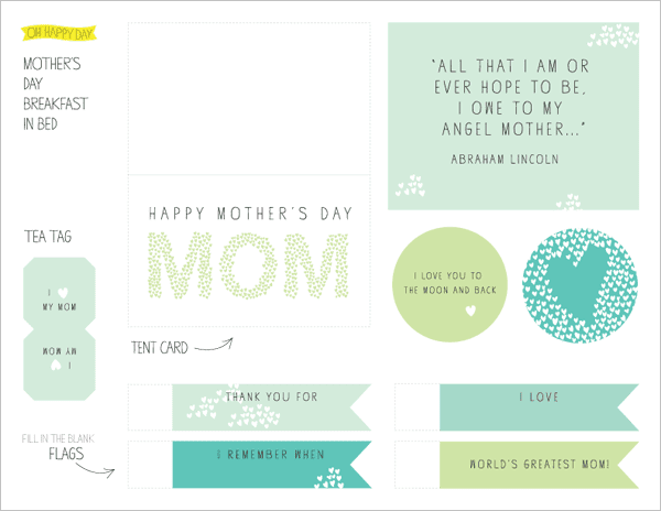 mothers day gift: mother's day breakfast + free printable