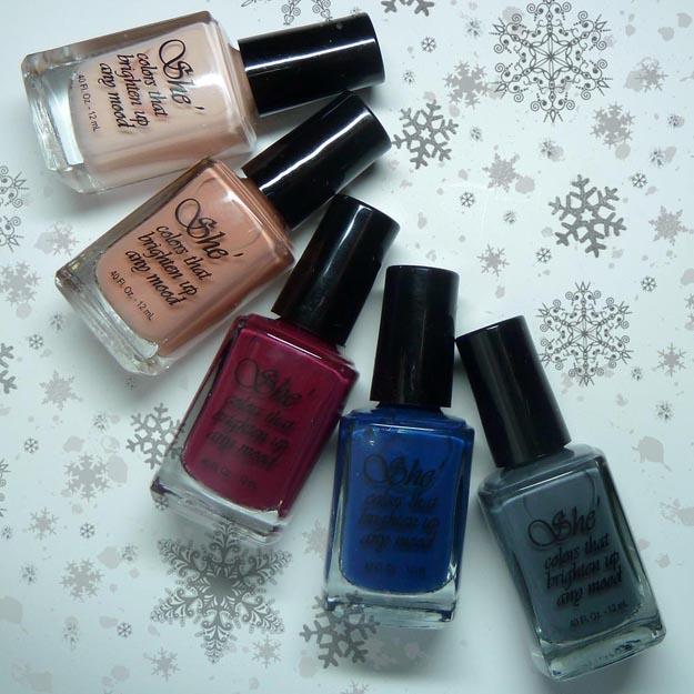 twi-star | Nail Art Blog: She Nail Polish Winter Collection 2015 Review!