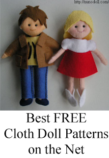 Best free cloth doll patterns on the internet