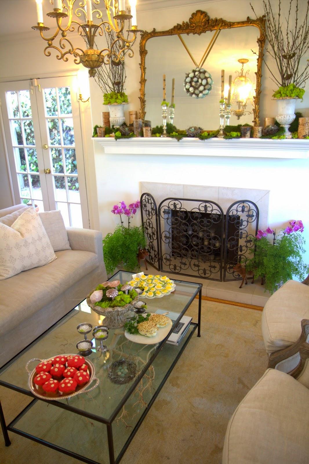 Woodland Party; Living Room decor, springtime: Nora's Nest