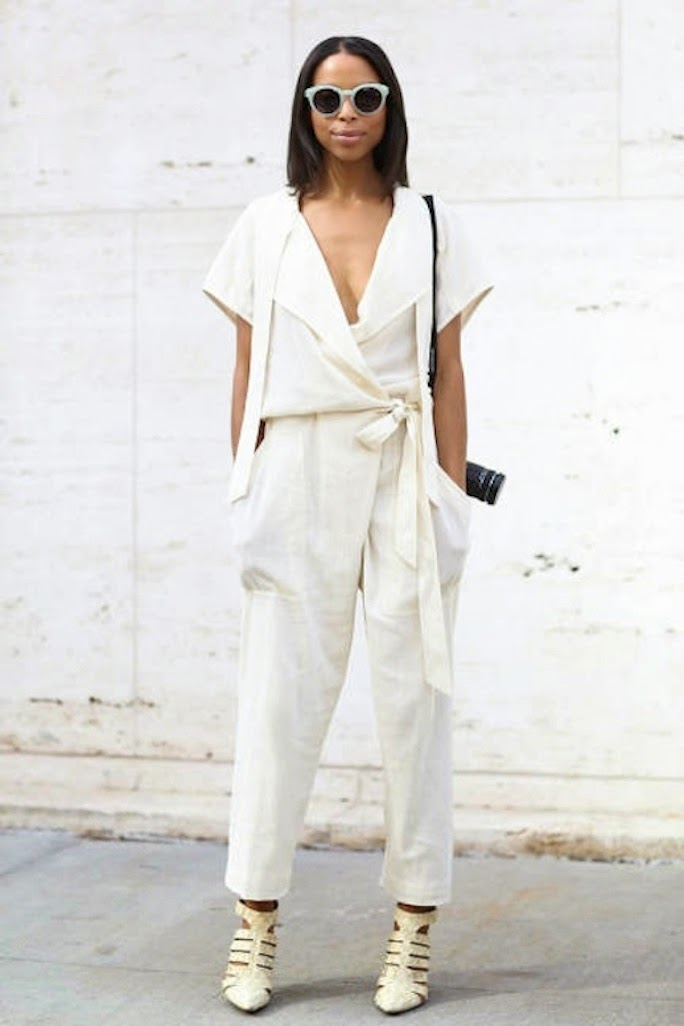 white jumpsuit fashion