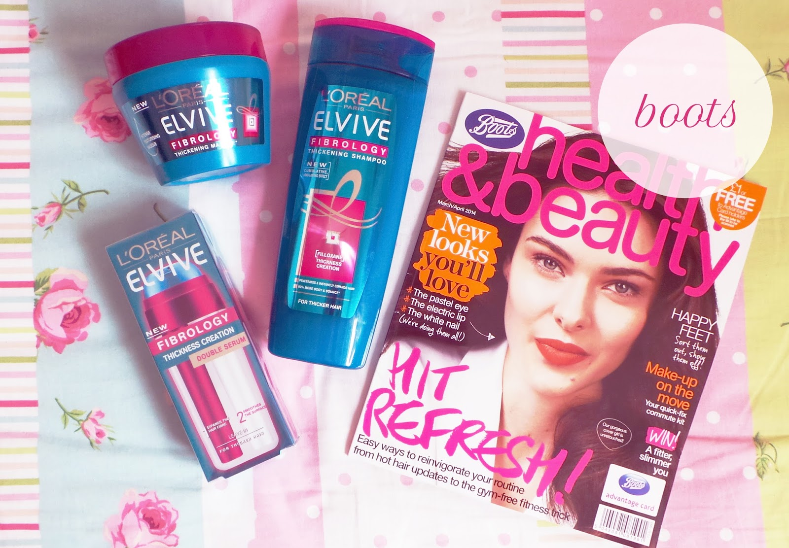 boots, boots haul, boots health and beauty magazine, boots magazine, loreal fibrology, loreal fibrology shampoo conditioner serum