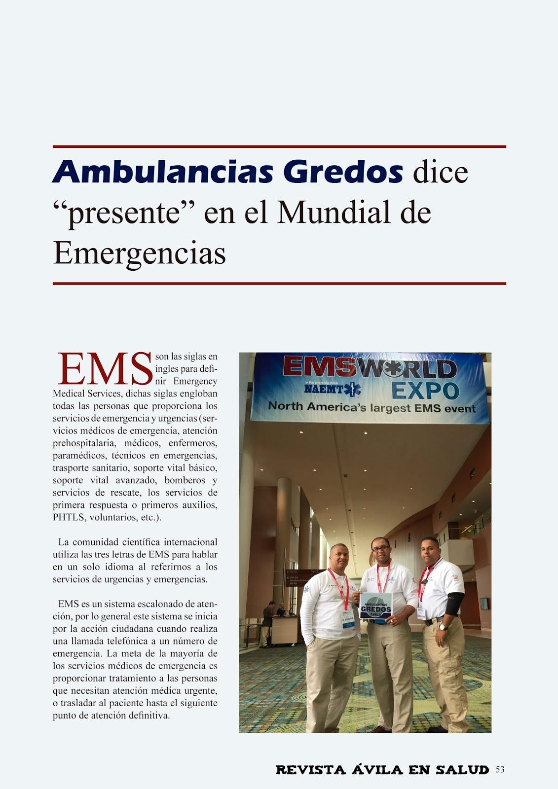 Qué significa EMS?   Revista Ávila en Salud