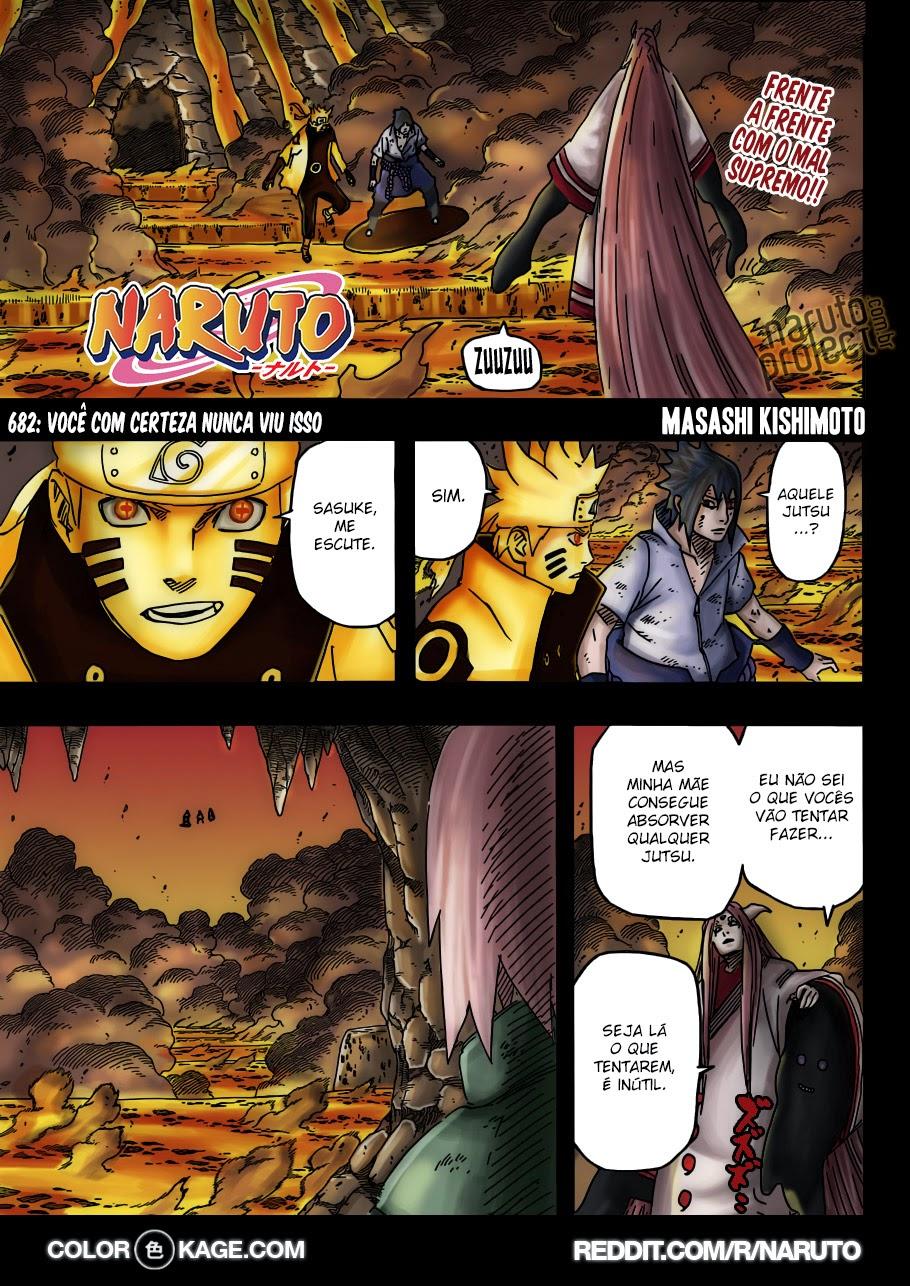 Naruto 682 Mangá Colorido