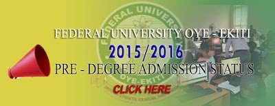2015/2016 FUOYE Predegree result