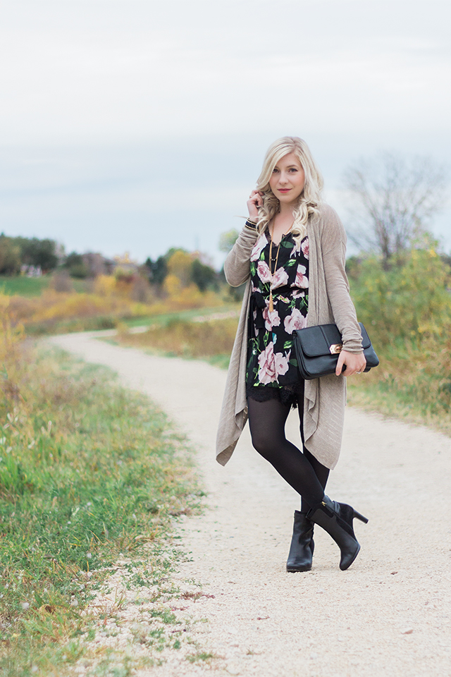 Pretty Little Details fall fashion inspiration.  Yes you can wear rompers in the fall!
