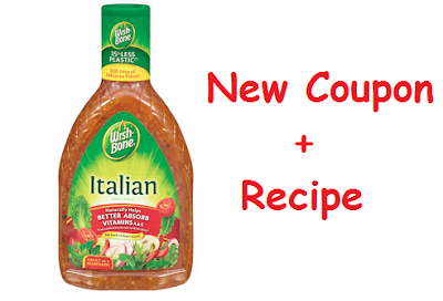 New Coupon: $0.50/1 Wishbone Salad Dressing + Recipe Idea