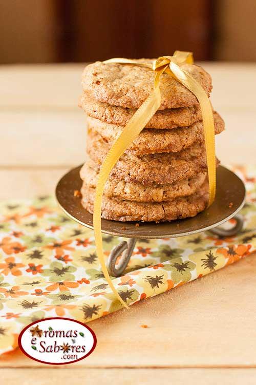 Biscoitos crocantes de aveia