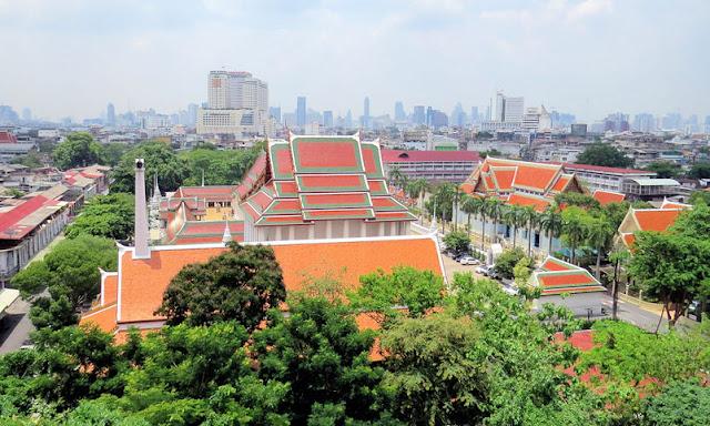 Blick vom Wat Saket, Golden Mount Temple, Bangkok Thailand