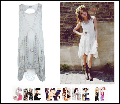 Beading, Cream, Dress, Embellishment, Festival Style Blog, Flapper Style, Made In Chelsea, MIC, Millie Mackintosh, Miss Selfridge, Scallop Edge Hem, Sequin,