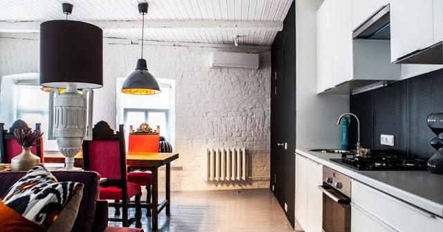 Cocinas con ladrillo visto blanco - Pared de ladrillo blanco ...