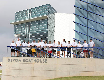 Participants in the adaptive rowing camp