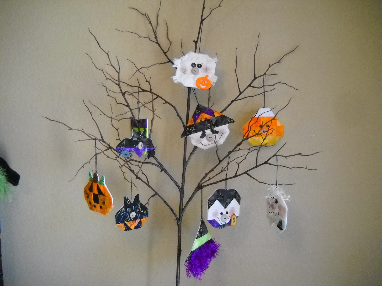 Halloween tree ornaments - I Have A Candy Corn Mummy Ghost Vampire Frankenstein Cat Bat Pumpkin And Two Witches They Turned Out So Cute I Can T Wait To Do The Thanksgiving