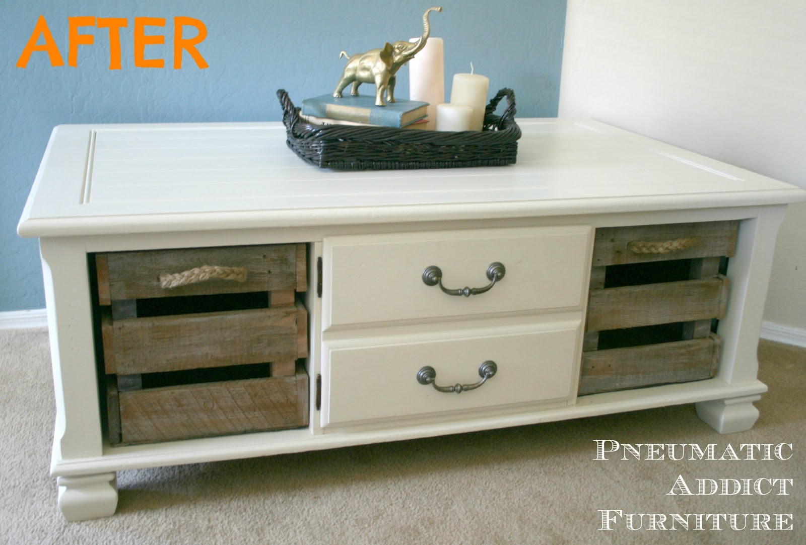 Pneumatic Addict CottageStyle Coffee Table Transformation