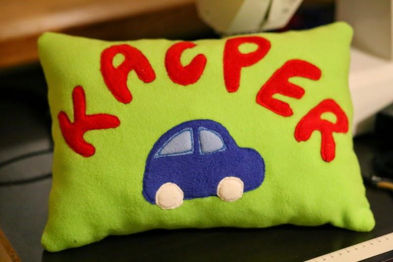 poduszka z imieniem Kacper