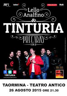 SOLD OUT PLATEA PER I TINTURIA AL TEATRO ANTICO DI TAORMINA